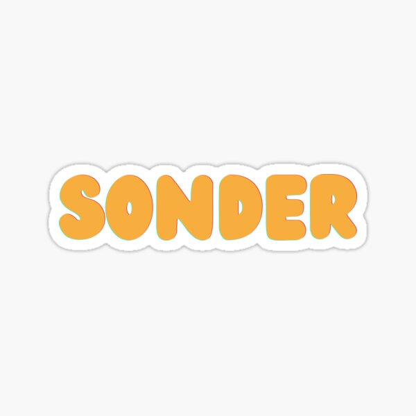 Sonder in Yellow Color Sticker
