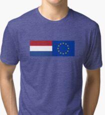 Netherlands EU Flag - Holland Stay In Referendum - The European Union Sticker Tri-blend T-Shirt