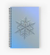 Majestic crystal, real snowflake macro photo Spiral Notebook