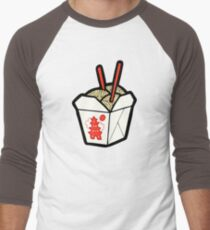 Take-Out Noodles Box Pattern Men's Baseball ¾ T-Shirt