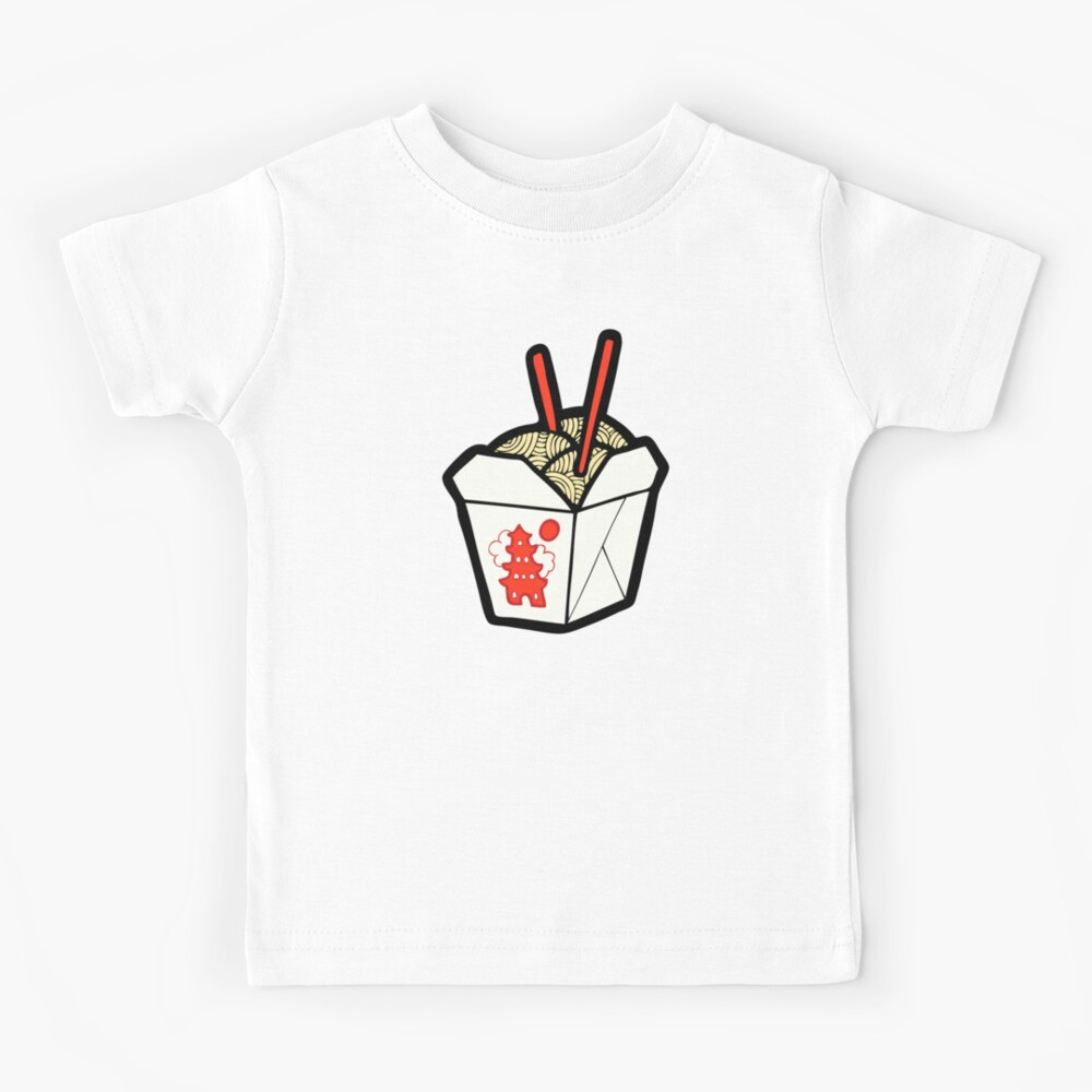 Take-Out Nudeln Box Muster Kinder T-Shirt