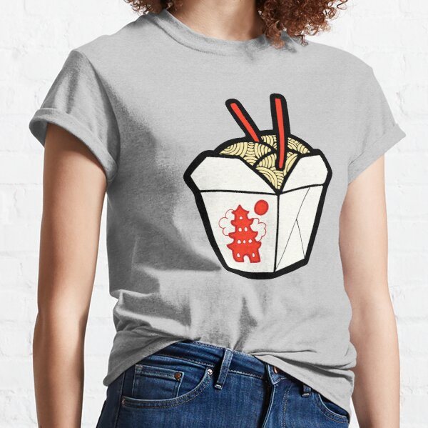 Take-Out Noodles Box Pattern Classic T-Shirt