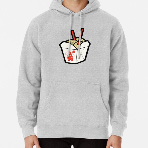 Take-Out Noodles Box Pattern Pullover Hoodie