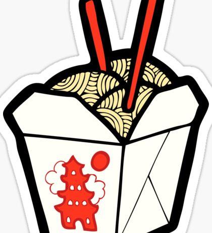 Take-Out Noodles Box Pattern Sticker