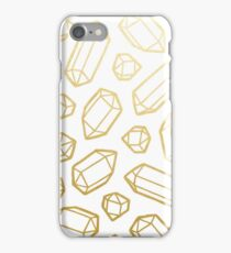 Gold and White Gemstone Pattern iPhone Case/Skin