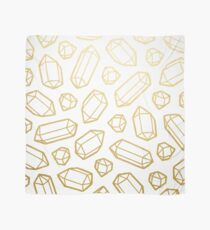 Gold and White Gemstone Pattern Scarf