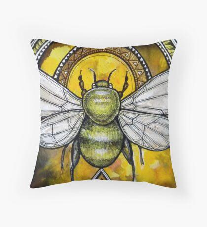 Bee Ascendant Throw Pillow