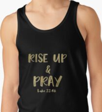 Inspirational Rise Up & Pray Quote Verse Tank Top
