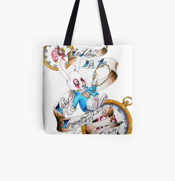 White All Over Print Tote Bag