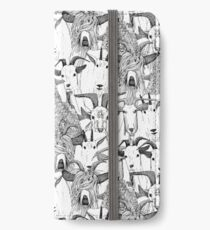 just goats black white iPhone Wallet/Case/Skin