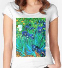 Van Gogh Garden Irises HDR Women's Fitted Scoop T-Shirt