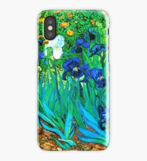 Van Gogh Garden Irises HDR iPhone Case/Skin