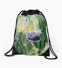 Gele Iris Drawstring Bag