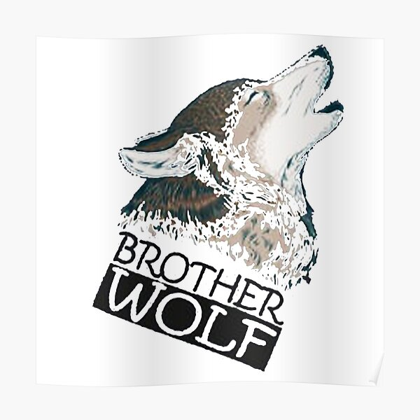 Watercolor Poster Print Blood Brothers Print Wolf Wolf Brothers Wolves Brothers Friends Saying
