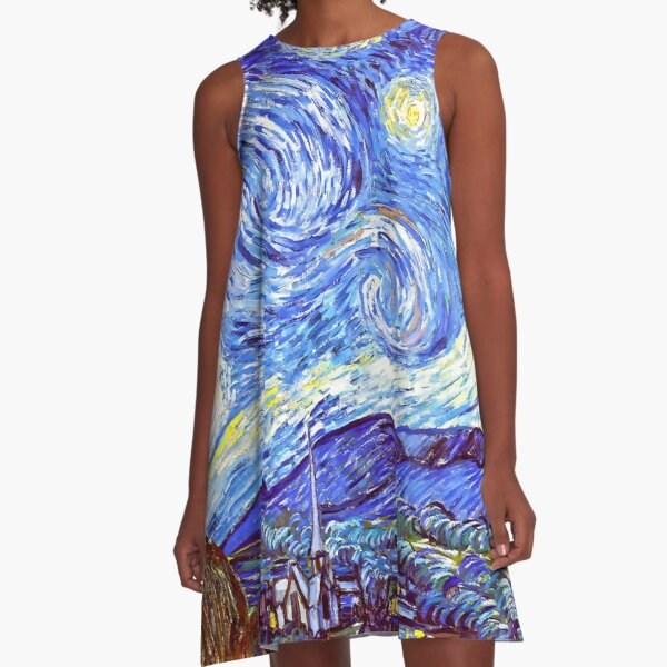 The Starry Night HDR A-Line Dress