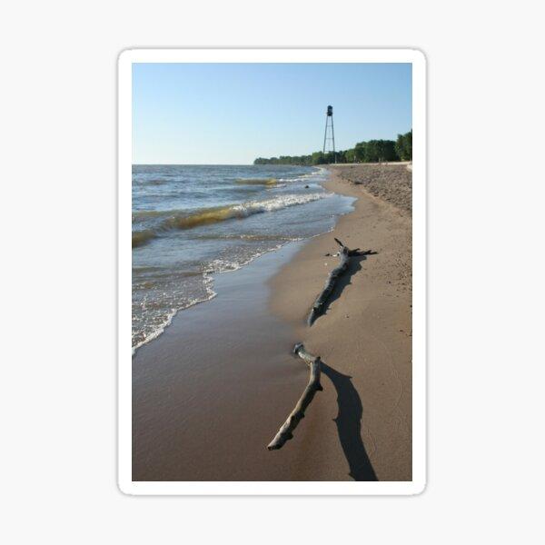 Driftwood on Winnipeg Beach Sticker