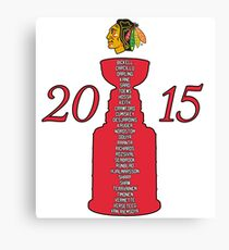 Chicago Blackhawks Stanley Cup Champions 2015 Canvas Print