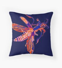 Squid-Soldier Beetle Inverted  Throw Pillow