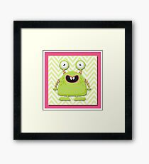 Cute Silly Monster Thing Framed Print
