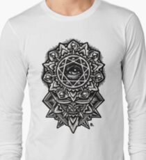 Eye of God Flower Mandala Long Sleeve T-Shirt