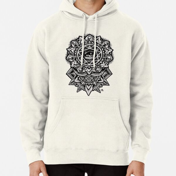 Eye of God Flower Mandala Pullover Hoodie