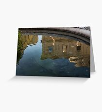 Noto's Sicilian Baroque Architecture Reflected Greeting Card