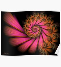 Tropical Spiral Poster