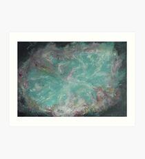 Crab Nebula - Mother of Pearl Art Print
