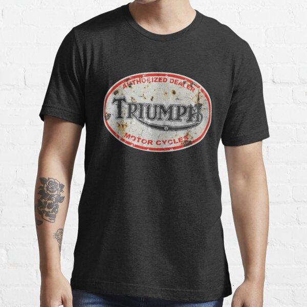 Triumph Vintage Motorcycle Dealer Logo Essential T-Shirt