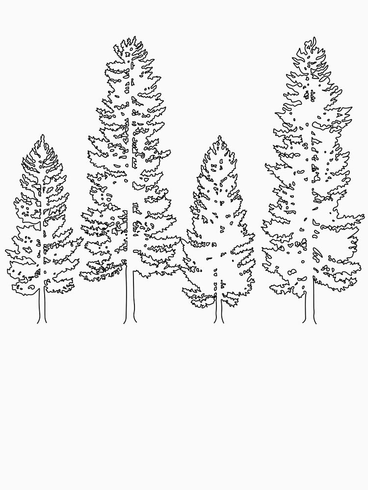 Pine Trees  by Rorowhitti