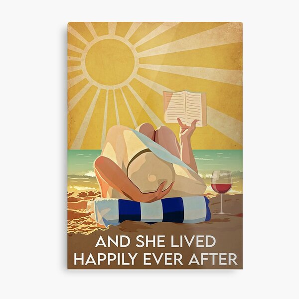 Ocean And She Lived Happily After Ever Poster Metal Print