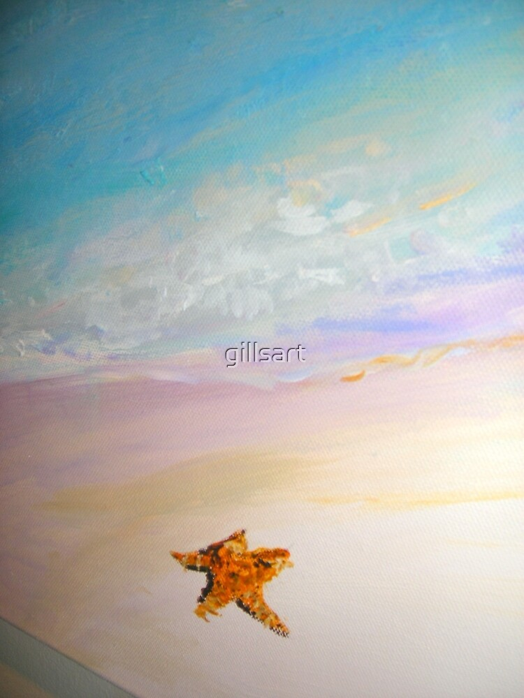 Just you and the lone starfish  by gillsart