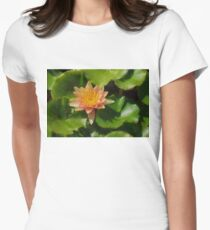 Warm Yellows, Oranges and Corals - a Waterlily Impression Womens Fitted T-Shirt