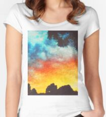 Landscape Sunset Women's Fitted Scoop T-Shirt