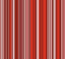 Many colorful stripe pattern in red on Stickers by pASob-dESIGN | Redbubble