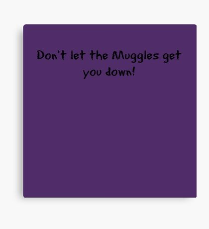 Don't let the Muggles get you down! Canvas Print