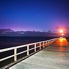 Sunset at Seaford Pier on the Mornington Peninsula Victoria by Ben  Cadwallader