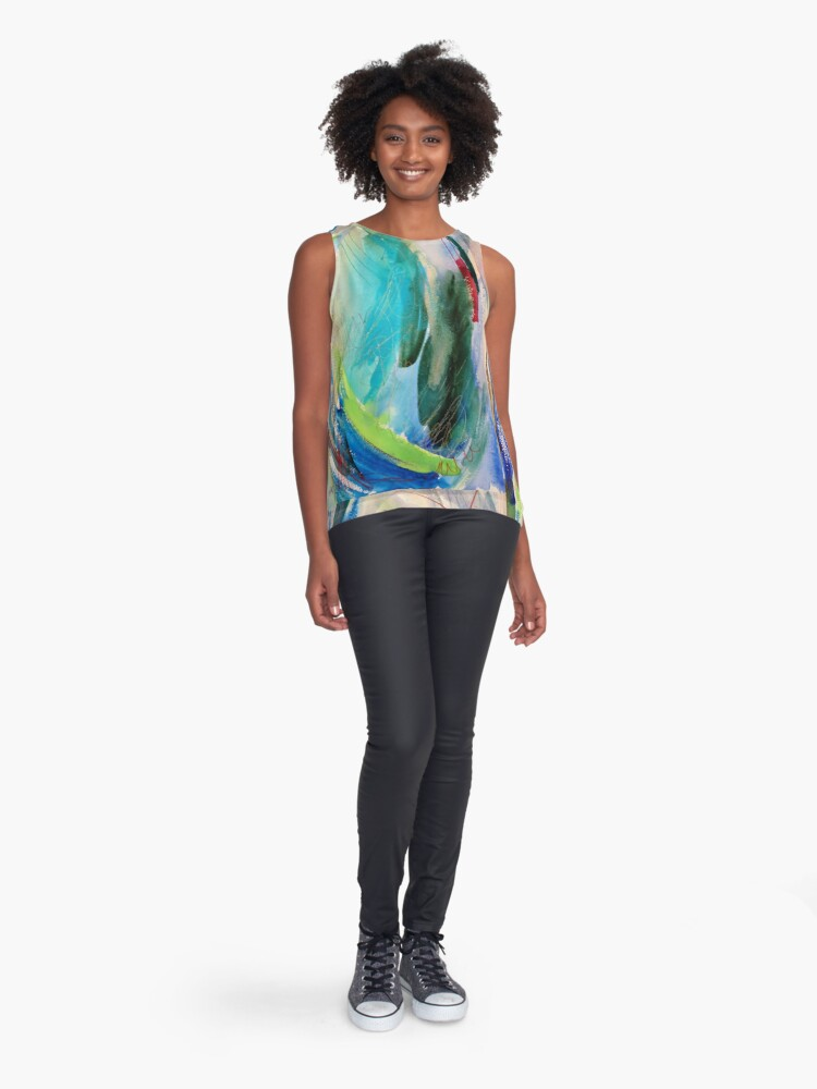 Alternate view of Ocean Sleeveless Top
