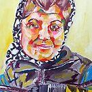 Newcastle Busker Acrylic on Canvas by Sarah Horsman