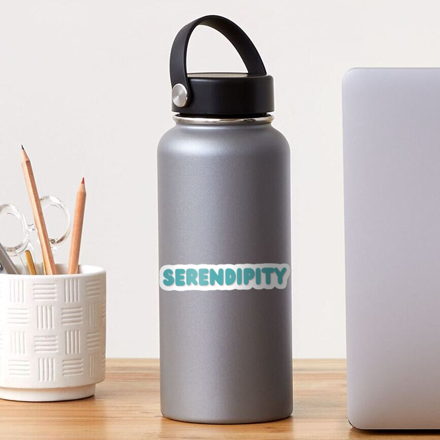 Serendipity in blue color Sticker