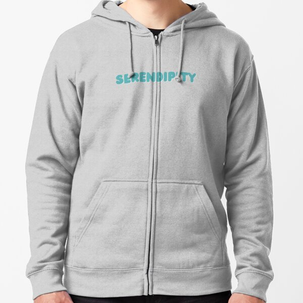 Serendipity in blue color Zipped Hoodie