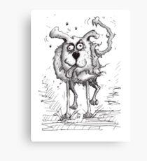 Shaggy Dog Hound Canvas Print