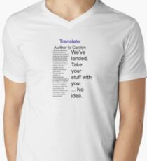 Translate Aurther to Carolyn Men's V-Neck T-Shirt