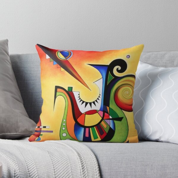 Homage to Kandinsky,  Sailing Throw Pillow