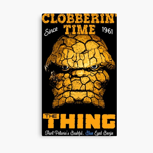 The Thing - Clobberin' Time Since 1961 Canvas Print