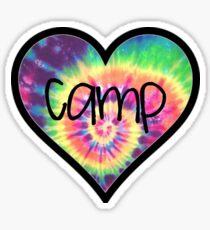 Camp Tiedye Heart Sticker