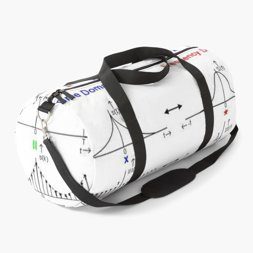 #Discrete #Fourier #Transform. #Diagram, graph, formula, chalk out, illustration, physics, graph plot, symbol, guidance, draft, sketch, science, research, scientific experiment Duffle Bag