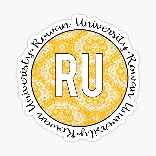 Rowan University Gold Sticker