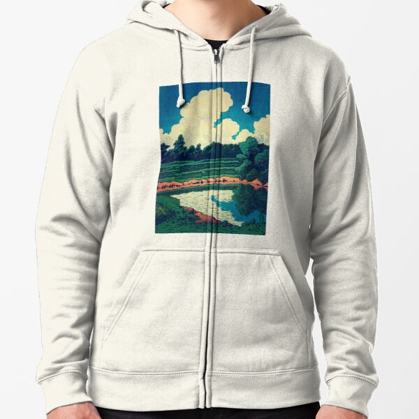 The New Year in Hisseii Poster Zipped Hoodie