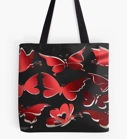 A butterfly Pattern (2320 Views) Tote Bag